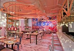Diseño y cocina fusión se unen en este restaurante en Washington DC