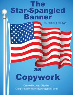 """It's time for your kids to learn """"The Star-Spangled Banner."""" Included here is the background story, 2 videos, and a link to some free copywork. Banners Music, Free Homeschool Curriculum, Homeschooling Resources, Star Spangled Banner, Elementary Music, Music For Kids, Music Lessons, American Flag, American History"""