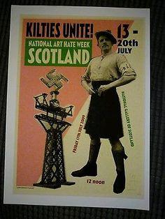 Billy Childish Kilties Unite! National Art Hate Scotland Enhanced pigment print.