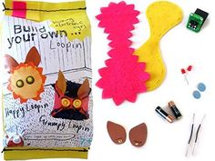 Loopin Smart Toy - electronics learning kit with innovative textiles - DIY cute plush monster - no sewing - no soldering (Brasileiro) E Textiles, Hobby Kits, Vintage Fans, Cute Plush, Cute Creatures, Craft Projects, Product Launch, Delicate, Embroidery
