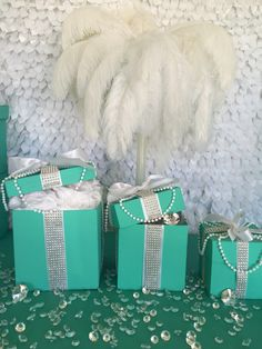 Want a bit more glam? Try these handmade 6x6x6 bling gift boxes with ribbon. Featuring pearls and bling ribbon, these beauties may steal the spotlight. Leave them closed or fill them up with more blin
