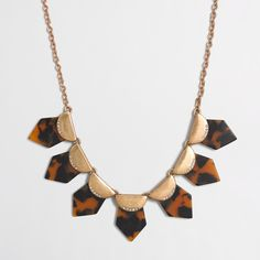 Factory mixed-media tortoise necklace : Necklaces   J.Crew Factory