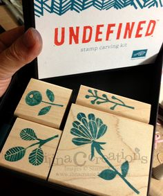 So many possibilities when you can carve your own! -- Undefined from Stampin Up .
