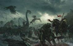 Fantasy - Battle  - Viking - Creature - Warrior Wallpaper