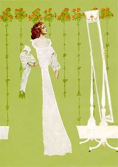 """Coles Phillips - illustration from """"The Gorgeous Isle"""" by Gertrude Atherton (1908) Fadeaway girl"""