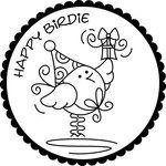 Happy Birdie embroidery