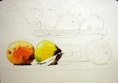 [정물수채화] 모과정물 - 수채화과정 : 네이버 블로그 Art, Painting, Male Sketch