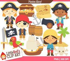 Pirates Ahoy! Clip Art Set $
