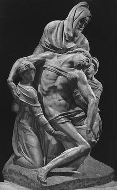Michelangelo Buonarroti... A self portrait is the man in back with the deformed face