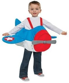 This little cutie gives red, white & blue new meaning in his adorable airplane costume.
