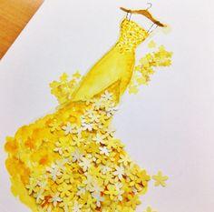 � �Multi designeri si ilustratori isi gasesc inspiratia in natura. Grace Ciao�foloseste petale ale diverselor flori pentru a construi, realmente, schitele pentru rochiile sale. Rochii desenate din petale! Si nu doar atentia la detalii este admirabila, ci si proportiile naturale ale petalelor in ...