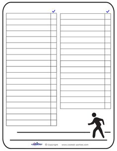Blank Printable Around Town Scavenger Hunt List - Free Scavenger Hunt Ideas and Printables