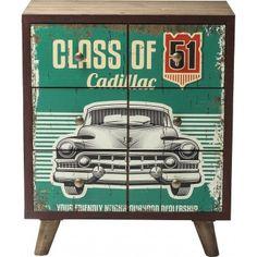 Commode #vintage au look patiné super #rétro ! Commode Garage Style 6 tiroirs #Kare Design