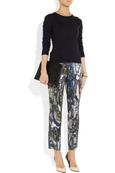 Theyskens' Theory | Padgette printed silk-satin pants | NET-A-PORTER.COM