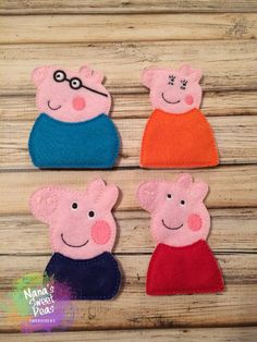Finger Puppets Pig Puppets by NanasSweetPeas on Etsy