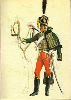 MINIATURAS MILITARES POR ALFONS CÀNOVAS: HUSARD del 7º REGIMIENTO en 1807, - por Michel Petard.