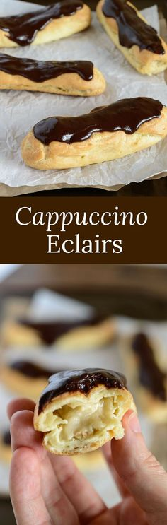 If you're in search of a unique eclair flavor then look no further than this incredibly easy recipe for cappuccino eclairs! via @introvertbaker