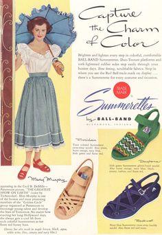 1950s Fashion Shoes, 1950s Shoes, Vintage Fashion, Fashion Sandals, Vintage Outfits, Vintage 1950s Dresses, Vintage Shoes, Vintage Glamour, Vintage Beauty