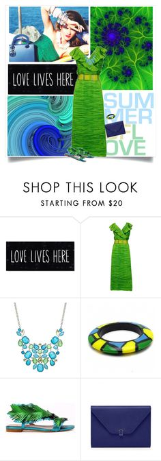 """Green and Blue Wedding"" by sherry7411 ❤ liked on Polyvore featuring Sybil Connolly, Style & Co., Fantasy Jewelry Box and summerwedding"