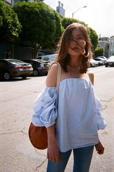 Sunday's Inspiration: Blue Light Top   BeSugarandSpice - Fashion Blog