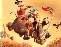 Carl Barks Oil Painting