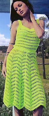 Vintage Crochet Pattern - Chevron Dress