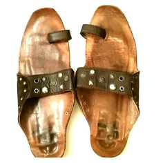 Report Geniune Leather Sandals Size 8 Nice sandals in nice pre-owned condition. These fit true to size. Report Shoes Sandals