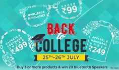 Paytm Back to College Sale Offer : Paytm 25-26 July Back to College Offers