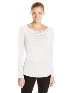 Royal Robbins Women's Essential Tencel Cowl Neck Tee -- Startling review available here  : Camping clothes
