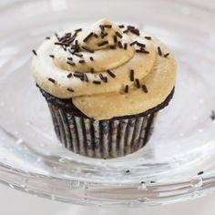Chocolate Cupcakes with PB Frosting