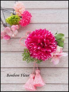 七五三髪飾りの画像:Bonbon Fleur ~ Jours heureux コサージュ&和装髪飾り