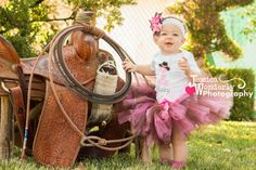 Birthday cowgirl tutu set in brown and pink boots and cowboy hat with