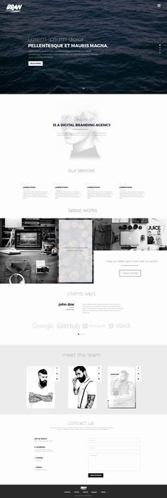 Bran Free PSD Template - Free Design Resources