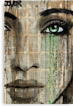 'genesis' Canvas Print by Loui Jover Gif Kunst, Journal D'art, Frida Art, Newspaper Art, Face Art, Painting & Drawing, Amazing Art, Saatchi Art, Pop Art