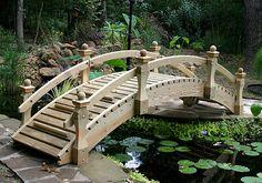 High Rise Low Rail Wooden Bridge
