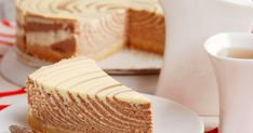 Zebra Steamed Cheesecake: Light and airy cheesecake with cool stripes. so easy to make! (in Polish with translator) Cheesecakes, Sweet Desserts, Dessert Recipes, Steamed Cake, Polish Recipes, Love Cake, Party Cakes, Queso, No Cook Meals