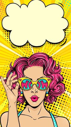 Our Thoughts on Pop Art Decor and Why Don't You Have it Yet? Art And Illustration, Bd Pop Art, Pop Art Girl, Pop Art Design, Pop Art Wallpaper, Wallpaper Backgrounds, Iphone Wallpaper Vintage Retro, Pop Art Women, Art Watercolor