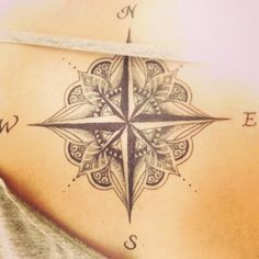 Compass tattoo...possible next tattoo...compass tattoo ideas