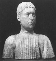 Bust of Pier Lorenzo de' Medici, by Mino da Fiesole, in the Bargello Museum, Florence