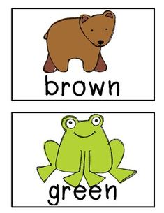 "FREE SET of ""Brown Bear"" based Color Word Signs ....Follow for Free 'too-neat-not-to-keep"" teaching tools & other fun stuff :)"