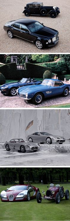 "Same Brand Of Car: Then And Now. I must say the ""then"" rides are much cooler than the ""now"" rides."