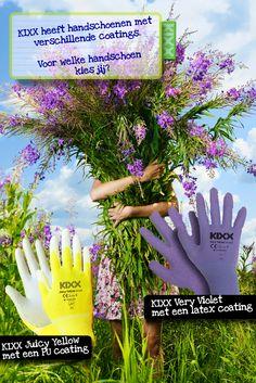 Weet jij het verschil in coatings van onze Color Line #handschoenen voor in de #tuin of tijdens het #klussen?