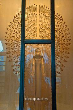 Decopix - The Art Deco Architecture Site - Art Deco Glass Gallery.  Prince Asaka Residence, Teien Museum, Tokyo