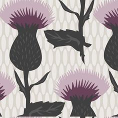 Thistle in Purple, Large Thistle Collection by Liz Ablashi