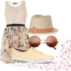 """""""Picnic Outfit Idea #2"""" by smileskillshates on PolyvoreCause you can wear Keds with dresses."""