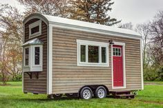 "University Architecture Students Build Bay View Tiny House.  18 x 8'6"". This was for sale for ONLY $30k!! Nicely done!"
