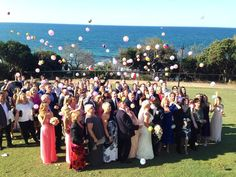 Beach ball confetti forget the rose petal cones for the beach wedding this was beach fest!! Suzanne Riley marriage celebrant sunshine coast