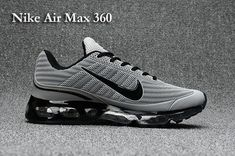 Nike Air Max 360 Men's shoes Black Grey Women's Sneakers, Sneakers N Stuff, Sneakers Design, Nike Shoes For Sale, Running Shoes For Men, Running Outfits, Nike Running, Air Max 360, Nike Tennis