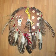 Vintage bear medicine shield American Indian Lakota by lolatrail, $110.00
