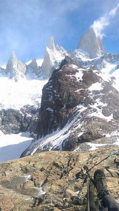 Laguna de Los Tres in El Chalten in Argentina. A spectacular place for a morning stroll.